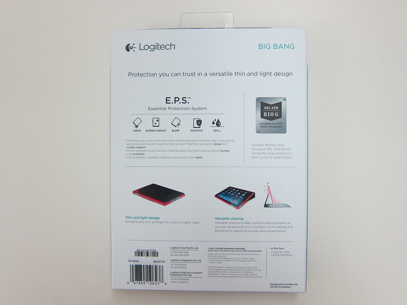 Logitech Big Bang - Packaging Back