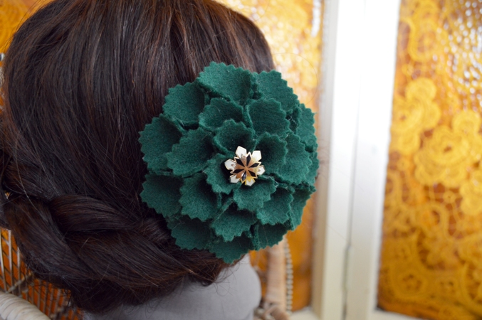 Felt Flower hair accessories and pins