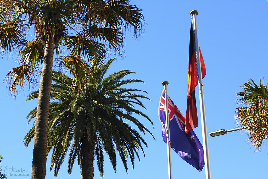 Australian and aboriginal flag