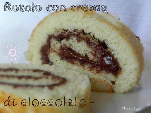 rotolo con crema di cioccolato