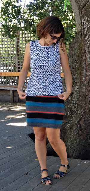 Plantain top and Mabel skirt