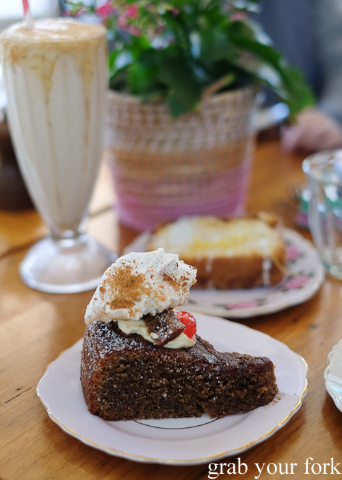 Chocolate coffee cake at The Pig and Pastry, Petersham