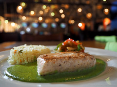 Mexican snapper with green sauce. (Pescado con Pob…