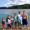 Our rowdy bunch of offspring! 3-5-6-8-9-10 aged smallest to biggest  #familyfun #laketownloving