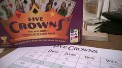 Fun game of Five Crowns