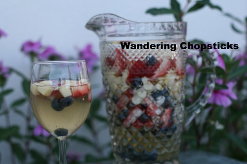 Red, White, and Blue White Wine Sangria 7
