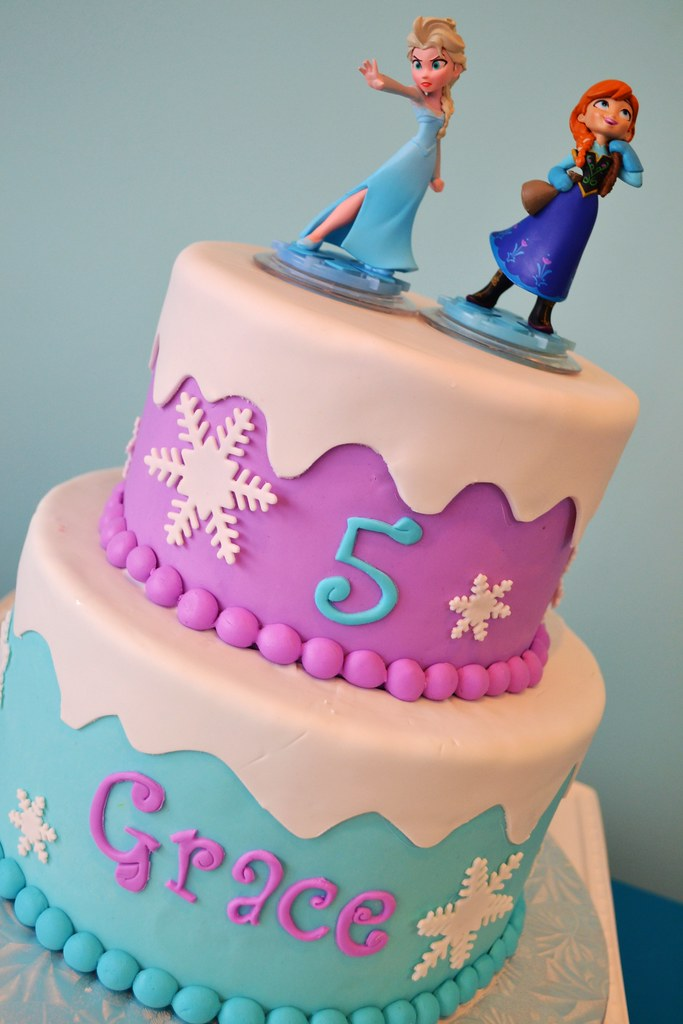 Frozen Elsa And Anna Cake Simply Sweet Creations Flickr
