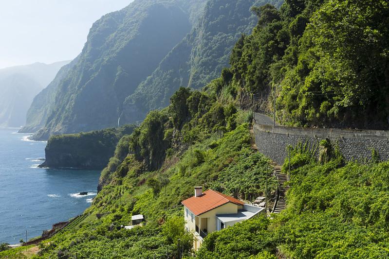"The ""Bride's Veil"" waterfall, near Seixal - Madeira"