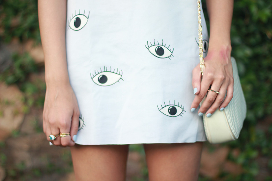 Choies Eyeball Dress, Lily Platform Sandals