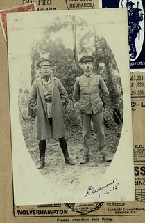 W.E.L.H. Crowther and Colin Perkins at Claremont Camp 1915