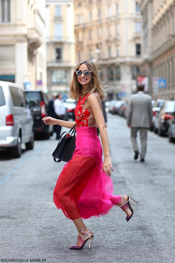 Candela Novembre at Milan Fashion week Menswear day 2