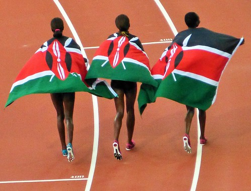 And Kenya sweeps the race