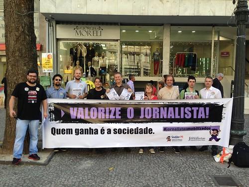 #jornalistasmobilizados na Boca Maldita