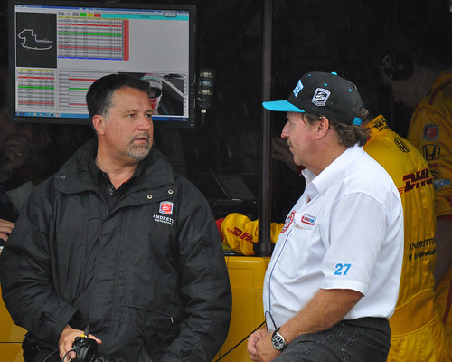 Mr. Andretti talks it over