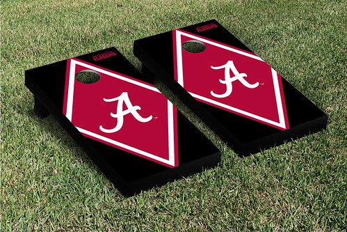 Alabama Crimson Tide Cornhole Game Set Diamond