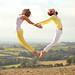 Yellow Heart Jump - Day 128/260 by Sasha L'Estrange-Bell