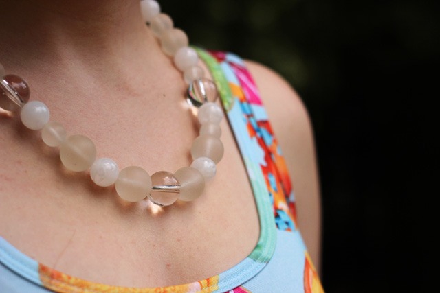 Clear and Frosted Beaded Necklace