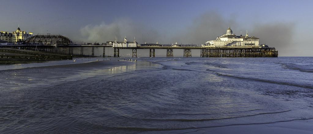 Eastbourne Pier Smouldering