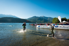 SUBARU Ironman swim portion at Alta Lake
