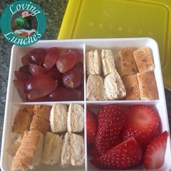 Loving help this morning to pack Honey's snack box for today… thanks Miss M!