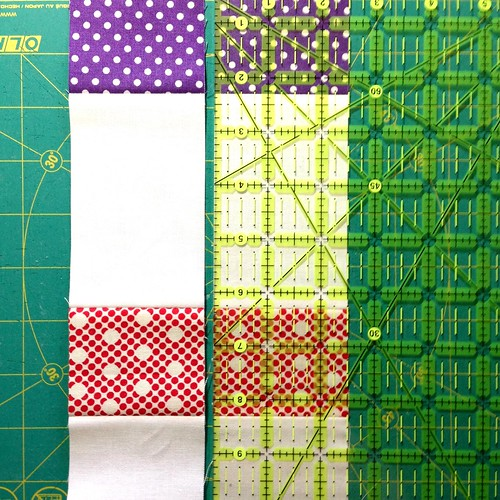 Patchwork baby steps cross cut strips