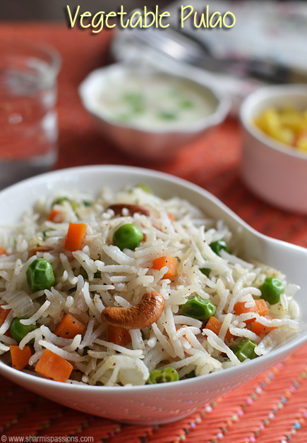 Vegetable Pulao Recipe – Veg Pulav Recipe – How to make veg pulao
