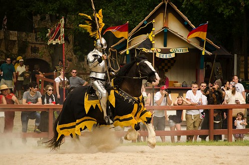 Sir Maxx on Elliot during the Joust to the Death