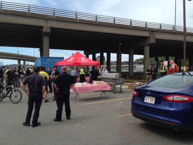 Operation Lifesaver Tent near Saint John Bridge