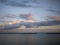 Dover harbour dusk
