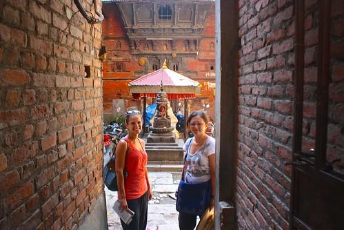 hidden shrines in a tiny Kathmandu alley