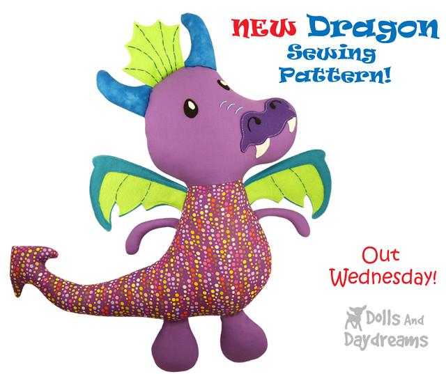 Dragon sewing pattern