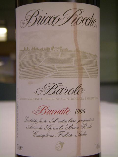 Ceretto Bricco Rocche Barolo 1996 Brunate