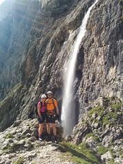 Pisciadù Klettersteig der Wasserfall