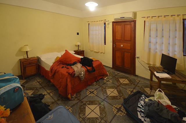 Nuestra habitación en el hotel de Puerto Principe