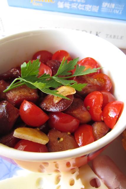 chorizo & tomato salad 1409