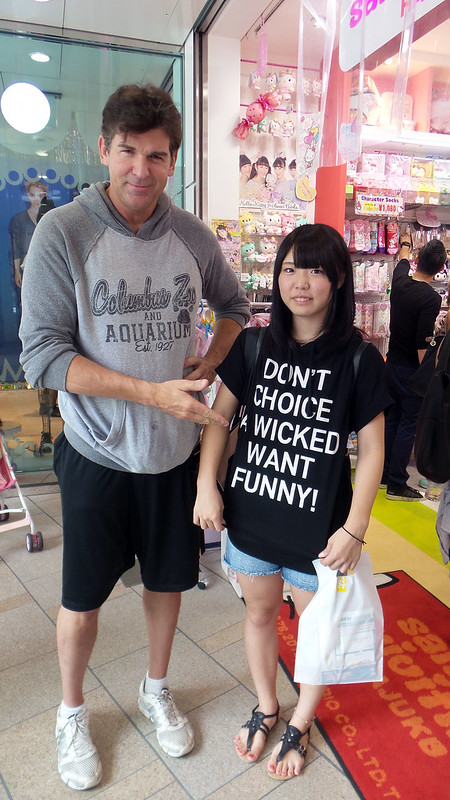 Kevin and a Girl Wearing an Engrish Tshirt