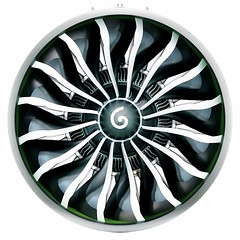 Rendering of the GE9X fan using a new fourth-generation composite: #AviationNation #aviation #aircraft  #engine