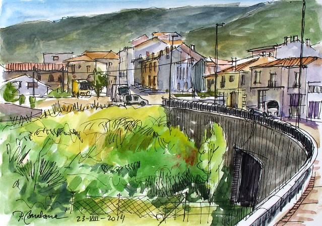 Piedrahita desde el puente a Bejar