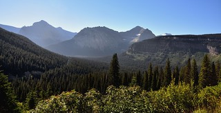 Looking Down a Valley to Citadel Mountain (Glacier National Park)