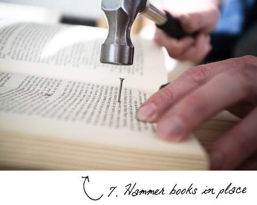 hammer-books-into-place