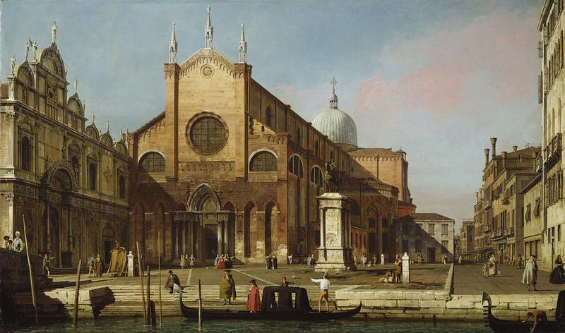 Canaletto - Venice The Campo SS. Giovanni e Paolo (c.1736-40)