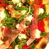 Pop-up pizza shop at what is usually a café. Chef's creation. Prosciutto and arugula and ricotta. So amazing. #youstayhungrysd #sandiego #sandiegoeats #foodstagram
