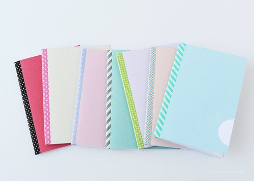 diy washi mini notebooks