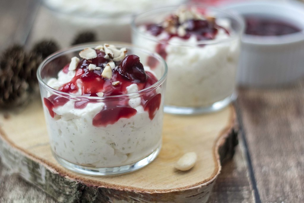 Recipe for Homemade Risalamande - Danish Rice Dessert for Christmas
