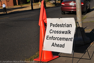 Crosswalk enforcement action NE Killingsworth-2