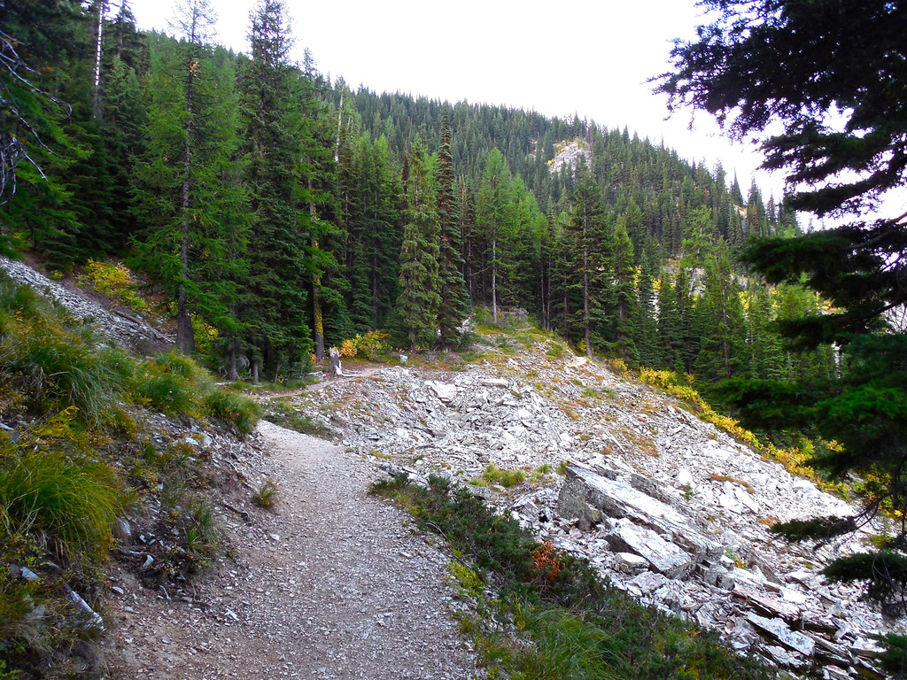 Revett Lake Trail on Montana - Idaho border near Thompson Pass
