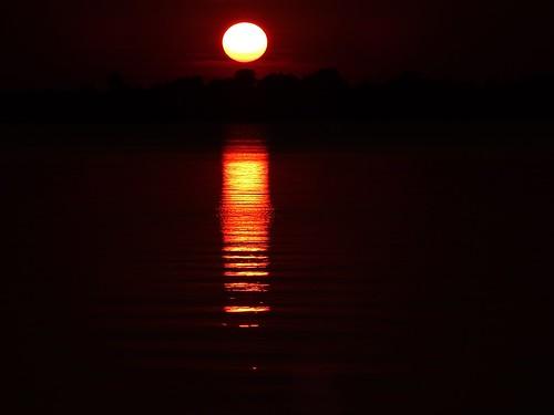 sunset summer sun lake nature water reflections river poland polska warta lodzkie jeziorsko łódzkie