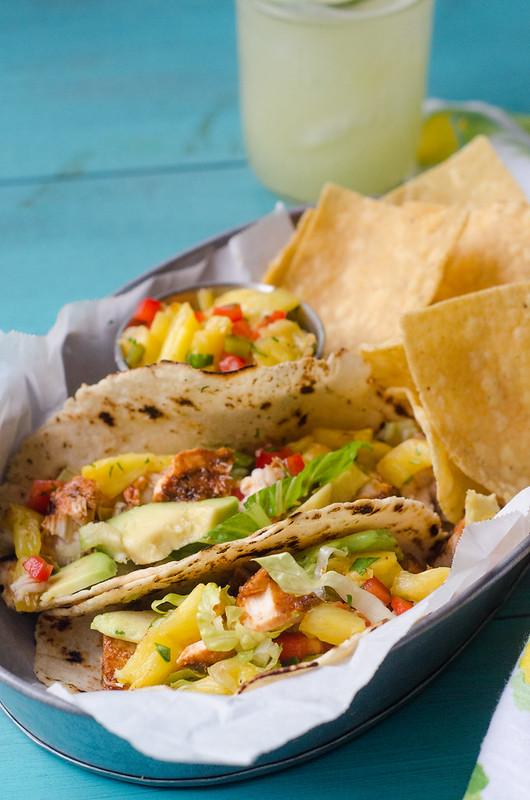 Grilled Fish Tacos with Grilled Pineapple Salsa