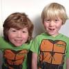 Two ninja turtles.