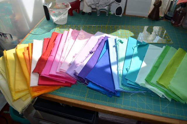 Fabrics for improv strips